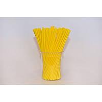 Палочки для кейк-попсов желтые Украина 15 см