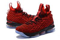 Мужские баскетбольные кроссовки Nike LeBron 15 (Red/Black), фото 1