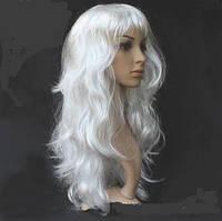 Купить не дорого парик длинный локоны белый