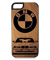 Деревянный чехол на Iphone 7/7s  с лазерной гравировкой BMW E39