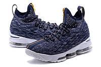 Мужские баскетбольные кроссовки Nike LeBron 15 (Dark blue/White), фото 1