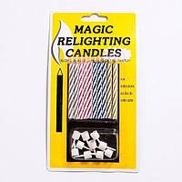 """Свечи """"магические"""" негаснущие, незадуваемые 10 штук"""