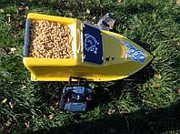 Кораблик для рыбалки 16000, 7.4v, ехолот, жолтый