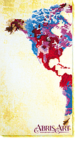 Набор для вышивания бисером на художественном холсте Карта мира-1
