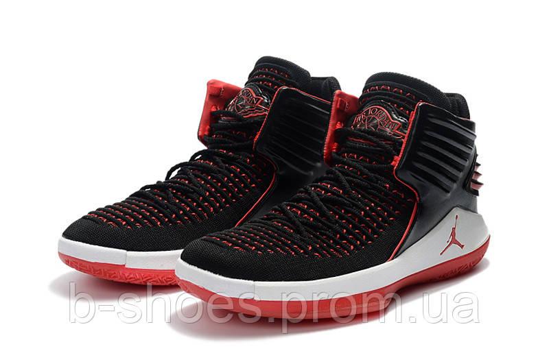 c1fb3b4d Мужские баскетбольные кроссовки Air Jordan 32 (Black/White/Red) - B-