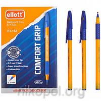 Ручка масляная Ellott ET-152 синяя, резиновый грип