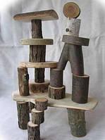 Конструктор для детей из натурального дерева