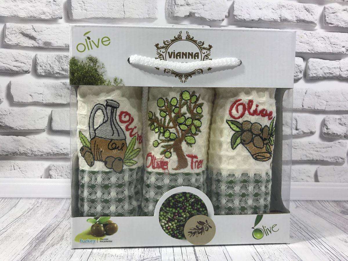 Подарочный набор вафельных кухонных полотенец Vianna № 32439