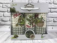 Подарочный набор вафельных кухонных полотенец Vianna № 32440
