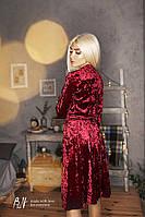 Бархатное платье на запах красное, серый, графит, черное, розовое