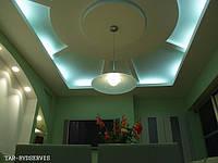 Монтаж подвесных потолков из гипсокартона, фото 1