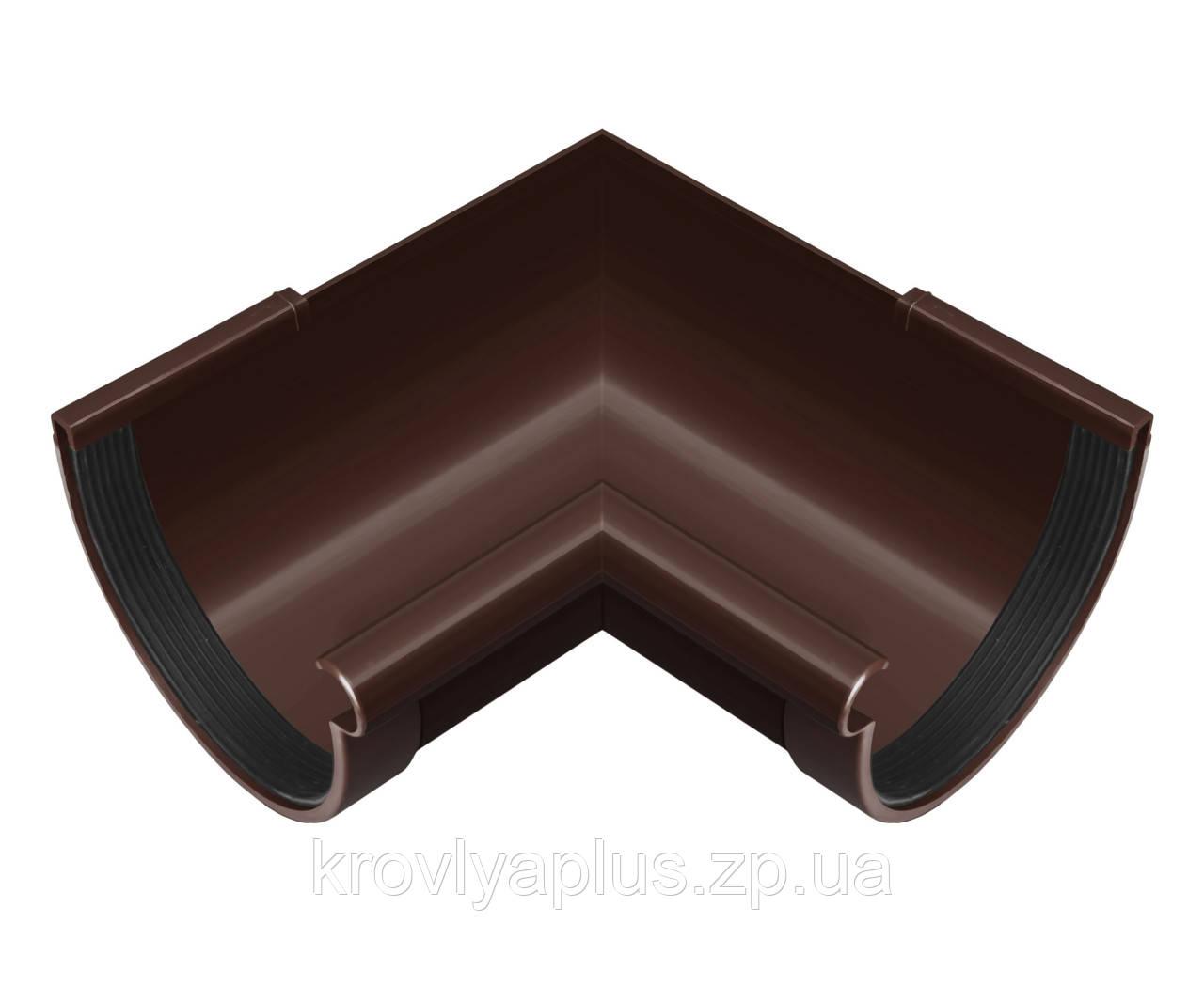 Угол (поворот) желоба внутренний 90° Ø130 (Rainway, Украина), коричневая.