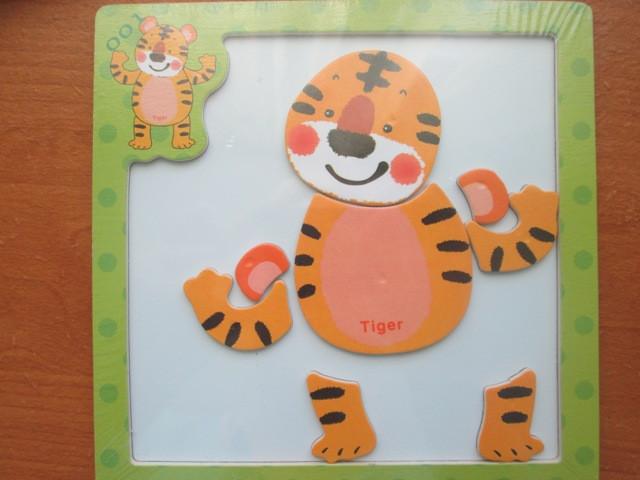 Магнитный пазл Тигр