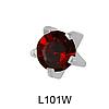Крапан Январь (гранат) 4mm L101W(без покрытия)