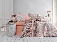 Качественный полуторный комплект постельного белья ТМ Nazenin Home, ранфорс DELHI-KAHVE-2
