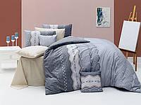 Качественный полуторный комплект постельного белья ТМ Nazenin Home, ранфорс Ekinoks-Gri