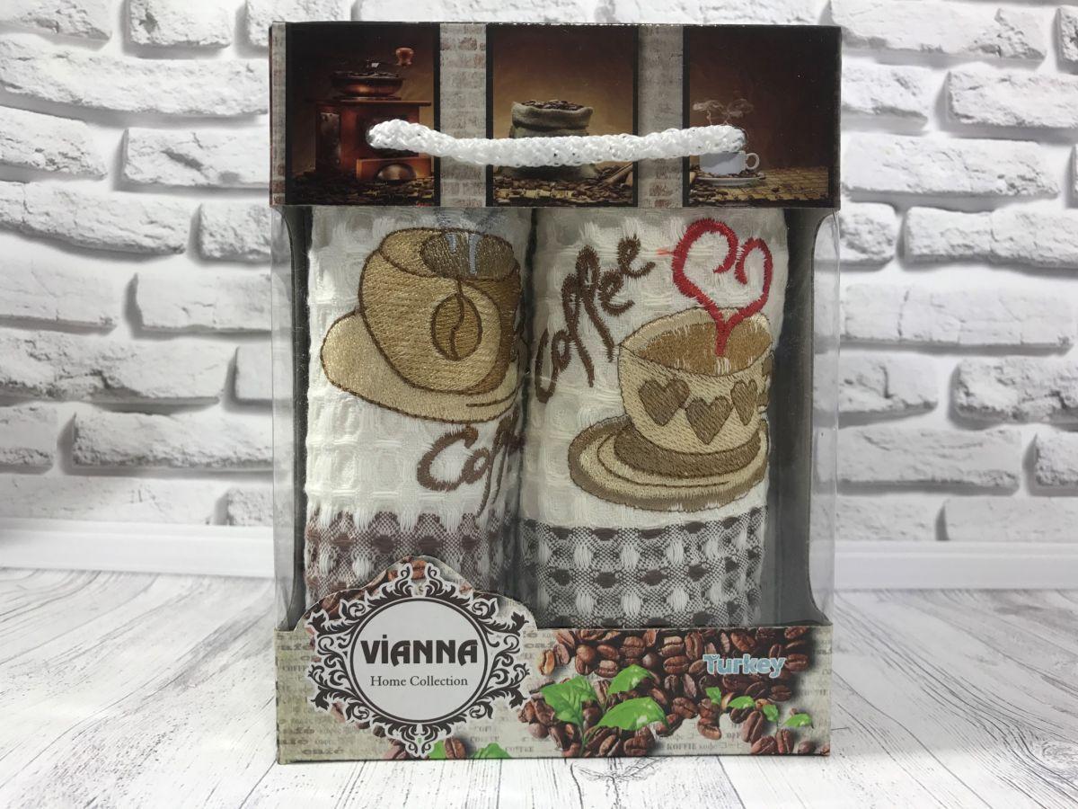 Подарочный набор вафельных кухонных полотенец Vianna № 32444