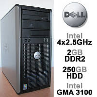 Dell Optiplex 330 - 4 ЯДРА 4x2.5GHz /2GB DDR2 /250GB HDD