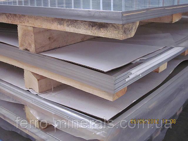 Нержавеющий лист 1,0х1250х2500мм,  AISI 321 (08X18H10Т), 2В