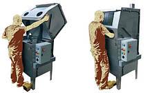 Машины для ручной мойки деталей с закрытой кабиной