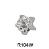 Крапан Апрель (хрусталь) 3мм R104W(без покрытия)
