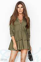 Осеннее платье воланы Gepur 23153