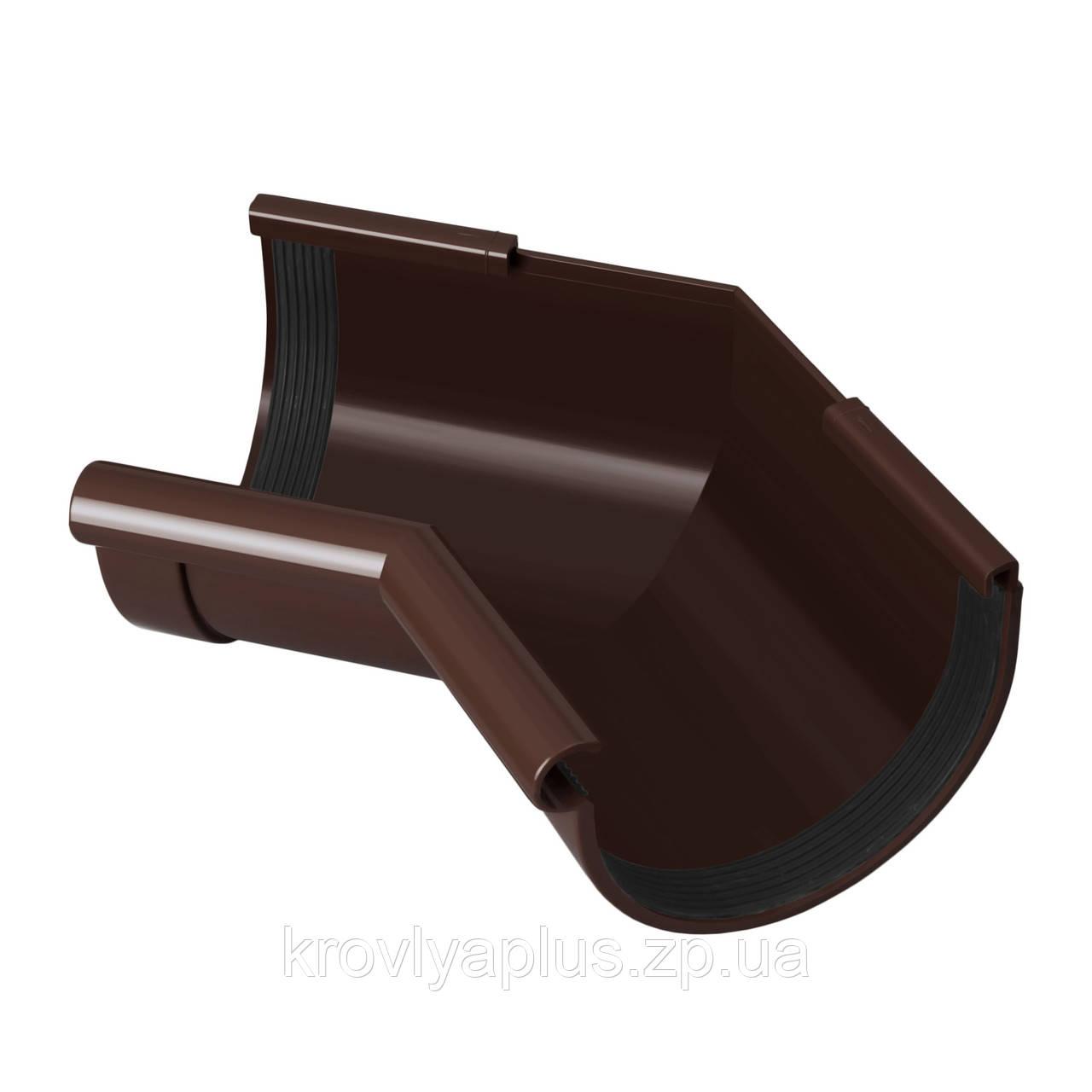 Угол (поворот) желоба внутренний 135° Ø130 (Rainway, Украина), коричневая.