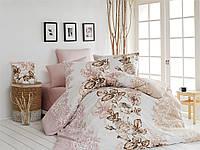 Качественный полуторный комплект постельного белья ТМ Nazenin Home, ранфорс LAMER-BEJ-2