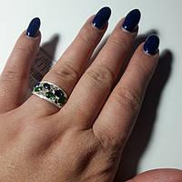 Серебряное кольцо с фианитами, р18