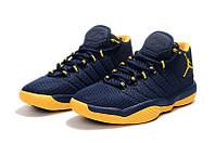 Мужские баскетбольные кроссовки Air Jordan Super Fly 2017 (Dark blue/Yellow), фото 1