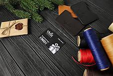Подарочная карта 1000 грн в кожаном картхолдере VOILE, фото 2