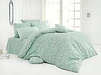 Качественный полуторный комплект постельного белья ТМ Nazenin Home, ранфорс LILLIUM-MINT