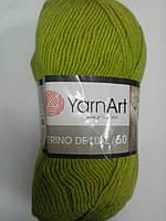 Пряжа для вязания Merino de lux напіввовна