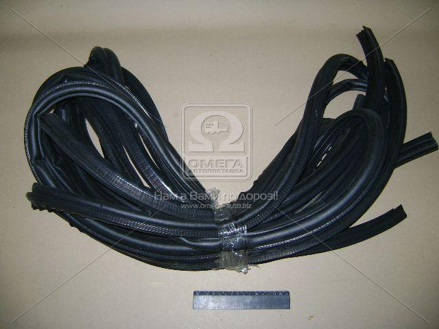 Уплотнитель двери ВАЗ 2110 (комплект 2 пер. п./л. +2 задн. п./л.) (производство БРТ) (арт. 2110-61/6207014/15Р), ADHZX