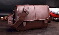 Мужская кожаная сумка + подарок, фото 1