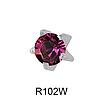 Крапан Февраль (аметист) 3mm R102W(без покрытия)
