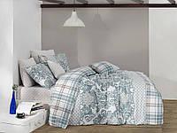 Качественный полуторный комплект постельного белья ТМ Nazenin Home, ранфорс orıental-mınt