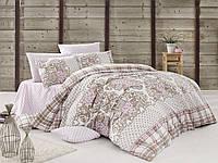 Качественный полуторный комплект постельного белья ТМ Nazenin Home, ранфорс orıental-pudra