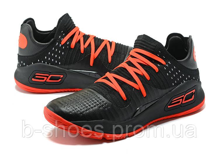 Мужские баскетбольные кроссовки Under Armour Curry 4 Low (Black/Red)
