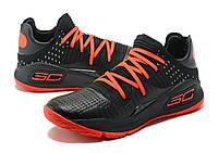 Мужские баскетбольные кроссовки Under Armour Curry 4 Low (Black/Red), фото 1