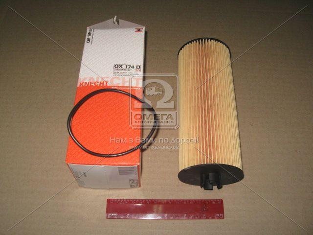 Фильтр масляный (сменный элемент) Mercedes-Benz (MB) ATEGO (TRUCK) (производство Knecht-Mahle) (арт. OX174DEco), ABHZX