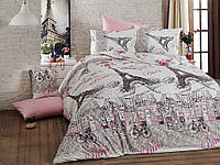Качественный полуторный комплект постельного белья ТМ Nazenin Home, ранфорс PARİS-NR-156