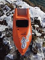 Кораблик для рыбалки 10000, 12v, ехолот, оранжевый