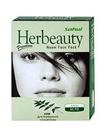 Маска для лица Ним для нормальной и сухой кожи Сахул (Herbeauty Neem Face pack Sahul) 100 гр