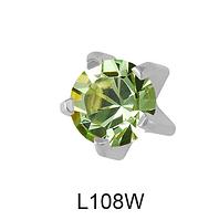 Крапан Август (хризолит) 4мм L108W(без покрытия)