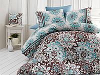 Качественный полуторный комплект постельного белья ТМ Nazenin Home, ранфорс STELLAMINT-3