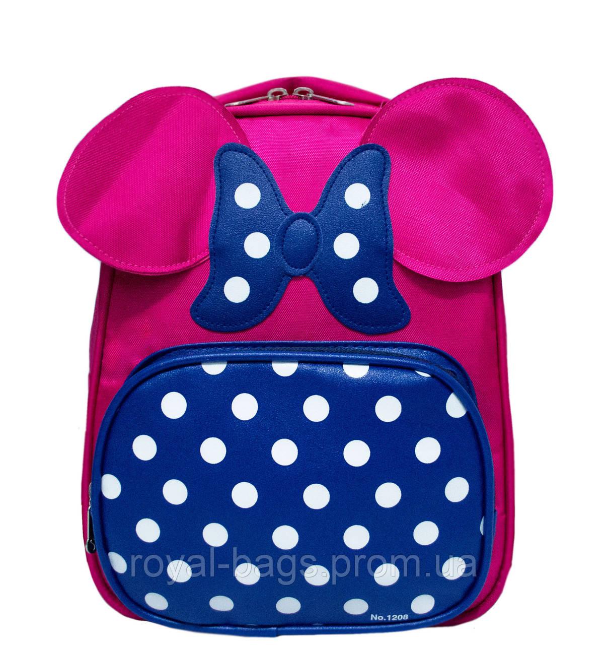 Детский рюкзак с ушками 3 Цвета Малиновый