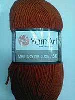 Пряжа полушерсть Merino de lux напіввовна