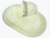 Набор ковриков для ванной Irya Laverne 60*100+40*60 зеленый