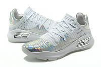 Мужские баскетбольные кроссовки Under Armour Curry 4 Low (White), фото 1